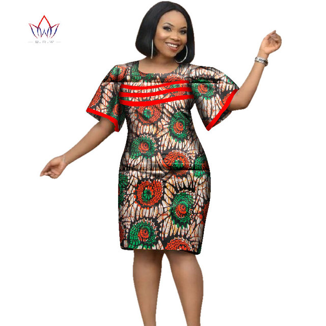 d5070206775 2019 Africa Dress For Women African Wax Print Dresses Dashiki Plus Size  Africa Style Clothing for Women Office Dress WY2353