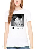 Frauen T Offizielle One Direction Louis Solo frauen T-shirt 1d Liam Niall Harry Zayn Merch Lose