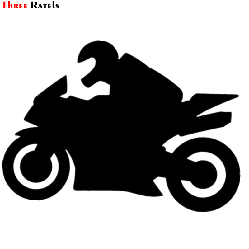 Three Ratels TZ-933# 13.8*20cm 1-3 Pieces Biker Is Driving Auto Motorcycle Vinyl Car Sticker  Auto Car Stickers