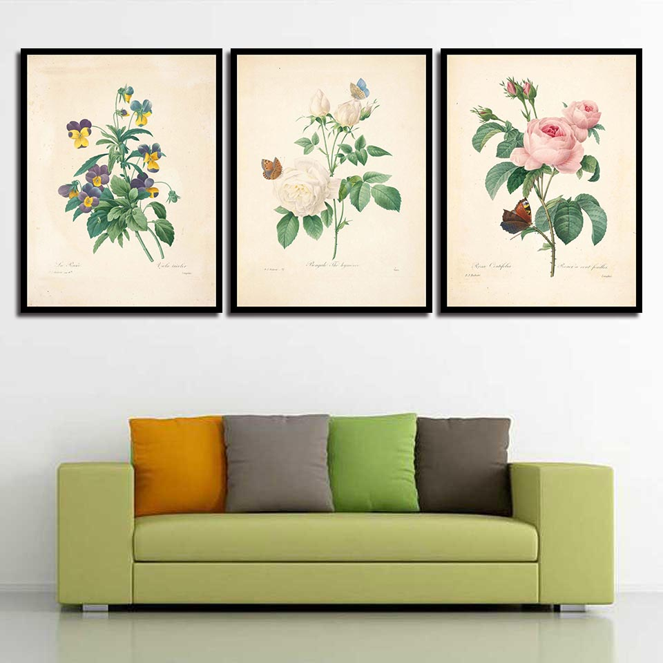 Nordic Simple Style Beauty Flowers Painting Home Decor Canvas Prints And Poster Modern Space Art Wall Picture For Living Room