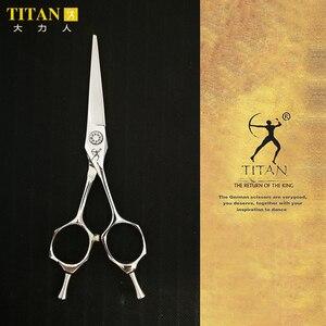 Image 1 - Forbici per capelli professionali affilate fatte a mano in acciaio inossidabile VG10 da barbiere Titan