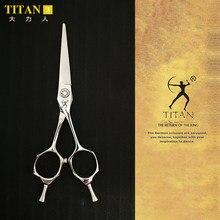 Titan-Tijeras de acero inoxidable VG10, para barbería, profesionales, afiladas, hechas a mano