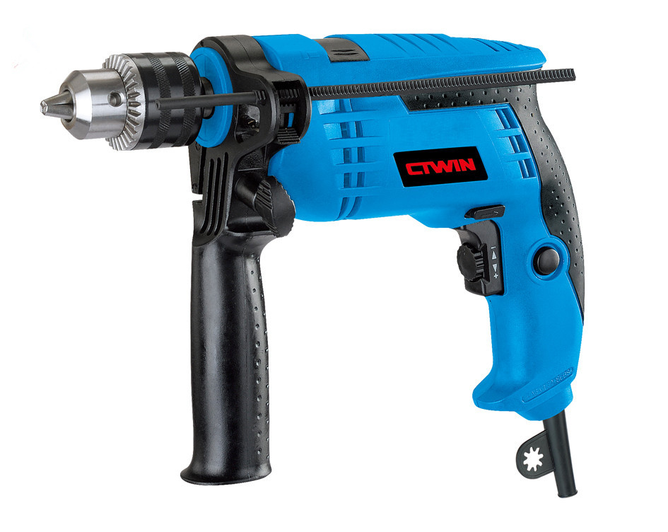 High Power Electric 13mm  Impact Drill Multi-function Open Whole Electric 710W Carved Wood Molding Type Strong-drill high power electric 13mm impact drill multi function open whole electric 710w carved wood molding type strong drill