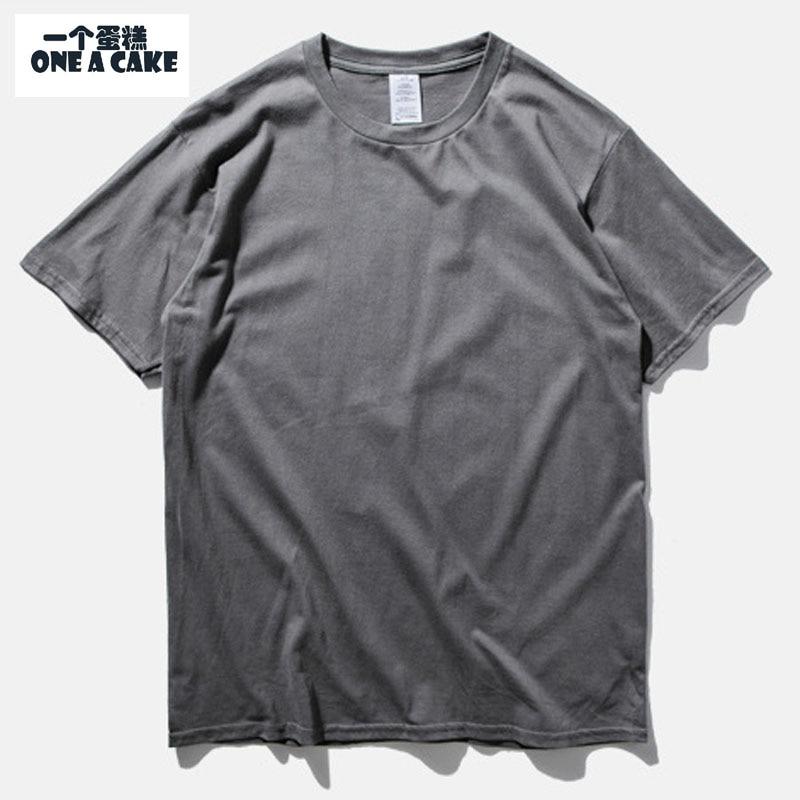 ONE A CAKE Hot Sale Blank Shirt Men Women Shirt Short Sleeve Solid Casual Cotton Shirt S-2XL Summer Clothing BY014