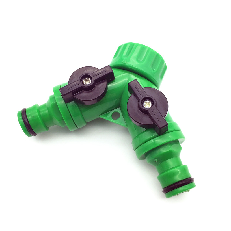 1 Pcs Y Connector Resealable  Tape Quick Coupling Drip Irrigation System Adapter  2-way Valve  Garden Irrigation G3 / 4