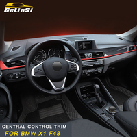 Genlinsi For BMW F48 X1 2016 2017 2018 central control trim cover sticker Interior Accessories Auto Car styling