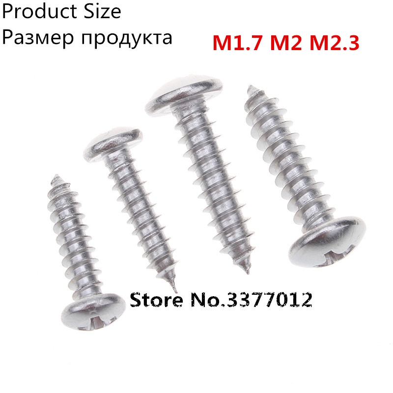 100pcs/lot SZ100-2 304 stainless steel Self tapping screws M1.7 M2 M2.3 Cross head ботинки timberland ботинки на каблуке