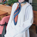 Luna&Dolphin Luxury Brand 70x70cm Satin Samll Square Silk Scarves Lady Multicolor NeckerChief Office Lady Top Silk Bandana