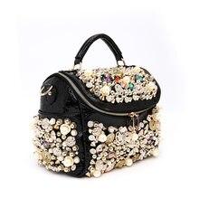 Women Bags Purse Lady Bag Tote Bolsos Messenger Bags Famous Designers Leather Sac Handmade Beaded Diamond-studded Handbags