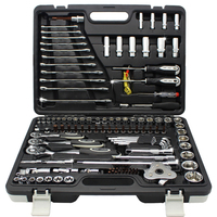 Mechanics Tool Set 123 Piece Tool Set Includes Screwdriver Wrench and Ratchet Set Great for The Home or Car