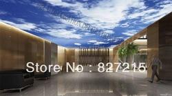 MO-0193/cielo azul/impresos de techo azulejos/película de techo estirada de PVC/decoración para el hogar o el techo /funciona como Panel de techo