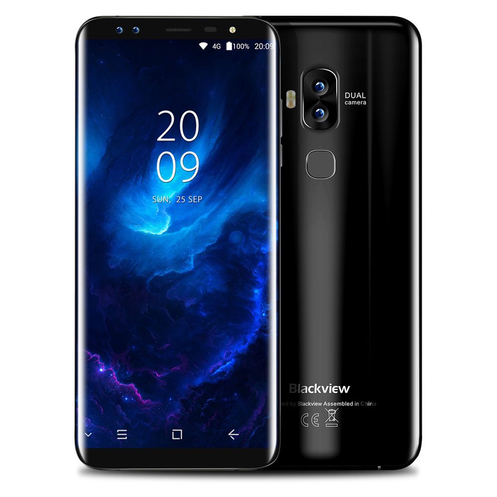 Blackview S8 4G Téléphone 5.7 pouce Android 7.0 MTK6750T Octa Core 4 GB RAM 64 GB ROM Double Caméras Avant Tactile Capteur Mobile Téléphone
