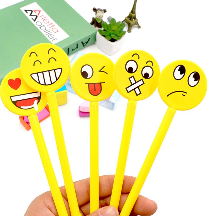 Party Favors 12pcs Funny Gel Pen Emoji Party Favor Kids Happy Birthday Party Supply Gift For Girl Boy Souvenirs Baby Shower Decoration Event & Party