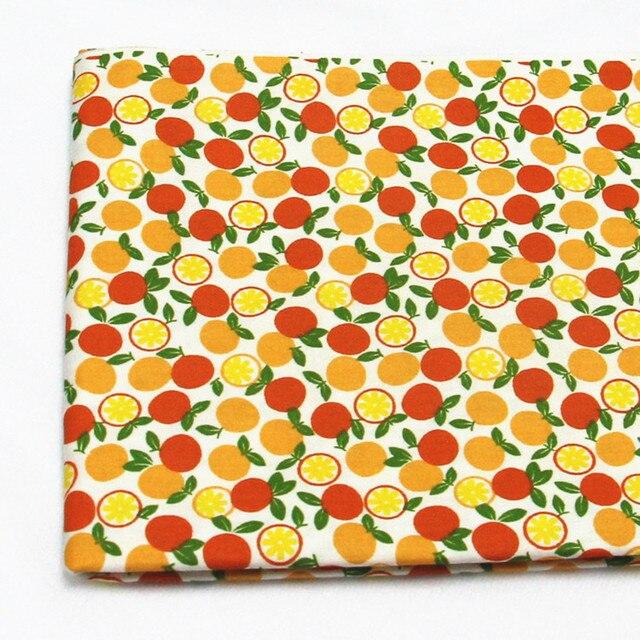 100% baumwollgewebe 50x160 cm orange bedruckten stoff für nähen ...