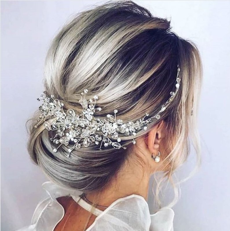 Crystal Hair Comb, Handmade Pearl Hair Band , Vintage Wedding Hair Clip Photo studio decoration Wedding accessory Facinator