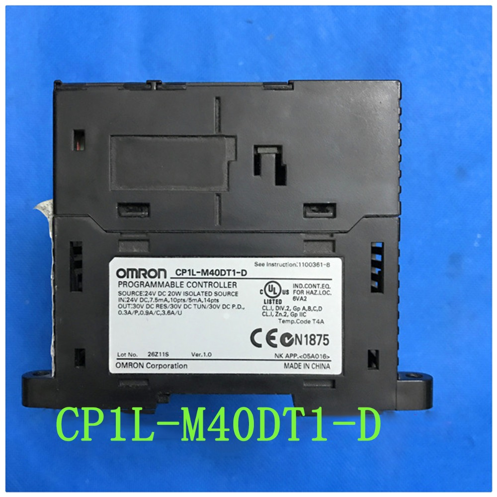 все цены на  M40DT1-D Used Original CP1L-M40DT1-D CP1L PLC CPU for Omron Sysmac 40 I/O 24 DI 16 DO Transistor Sourcing 24V USB  онлайн