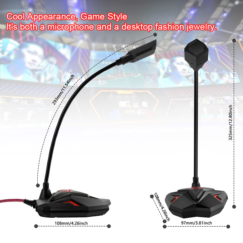 kexu wired microphone usb studio gaming 360 omnidirectionnel pc microphone for computer desktop. Black Bedroom Furniture Sets. Home Design Ideas