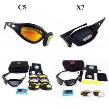Tactique lunettes de Soleil Hommes C5 X7 Lunettes Armée Militaire lunettes  de Soleil Jeu de Guerre En Plein Air Sports Cyclisme . d89cb3f6b6c9