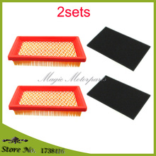 2x Air Filter & 2x Pre-Filter For Kohler XT-6 XT-7 14 083 01-S 14 083 04-S MTD 751-10298, 951-10298 Honda 17211-ZG9-M00 GVX140