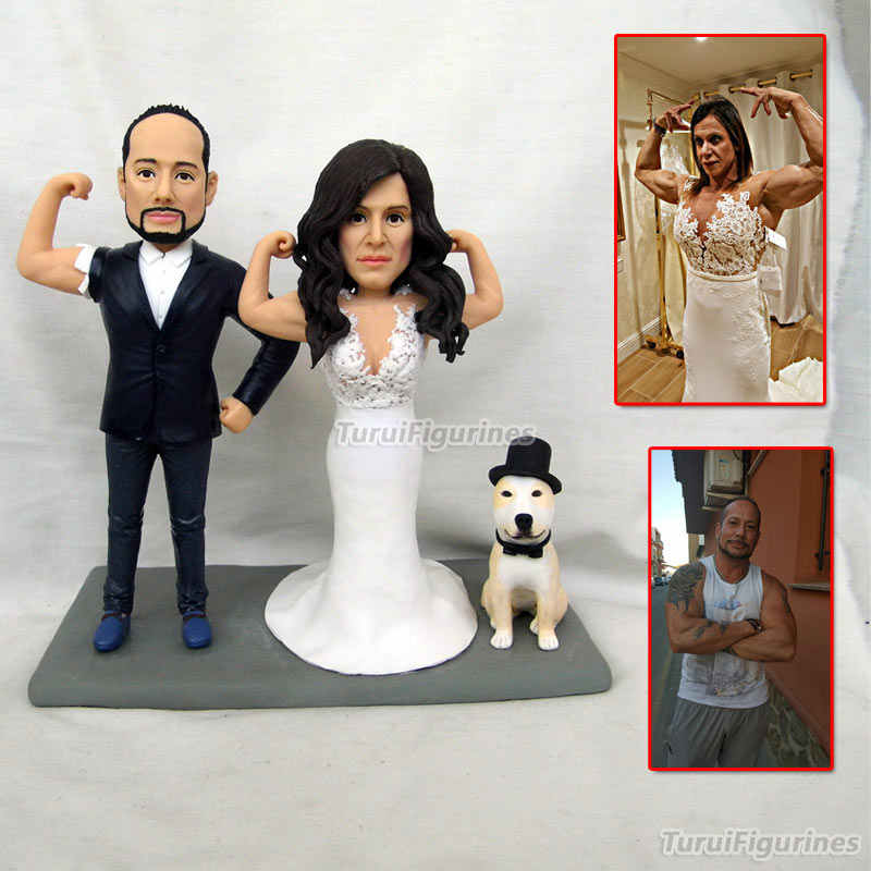 5ce5fe290ca gifts for wedding bride groom cake topper customized with dog cat funny  wedding gift personalized handmade present sounenirs