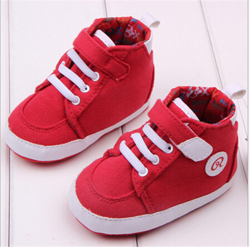 2015 New Red Baby Shoes Soft Sole Toddler Sport Shoes Fashion Baby Antislip First Walkers Shoes Sneakers