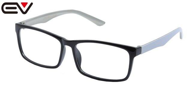 c6f1aa86a97 EV prescription oversized eyeglasses Square Clear Lens Optical Eye Glasses  Frame For Big Head Large Size