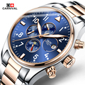 Hot 2016 Carnival Luxury Brand Sport Men Automatic Skeleton Watch Mechanical Military Watch Men full Steel Stainless Band reloje