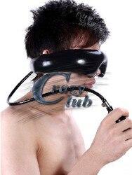 Crazy club_New поступление, продвижение, натуральный латекс, ручной работы, Надувное стекло, бондажное латексное покрытие, глаза, бесплатная доста...