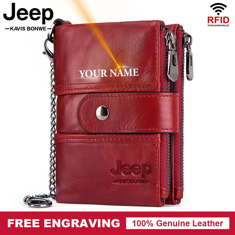 Free Engraving 100% Cow Genuine Leather Women Wallet Female Coin Purse Small Card Holder Fashion PORTFOLIO Portomonee Hasp