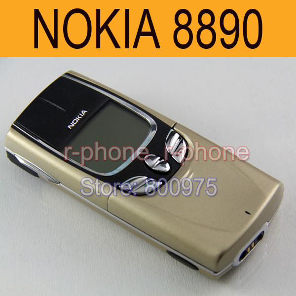 NOKIA Mobile Cell Phone 8890 Original Unlocked GSM Classic Slider 8890 Phone + Battery + Charger + Gift feature phone