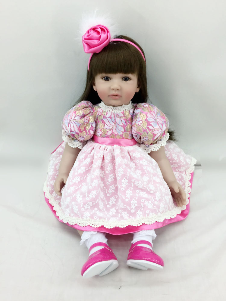 High end Silicone Vinyl Reborn Baby Doll Toys Kids Child Birthday Christmas New Year Gifts Lifelike Toddler Princess Girl Dolls silicone vinyl reborn baby doll toys kids child birthday christmas new year gifts high quality lifelike toddler girl dolls