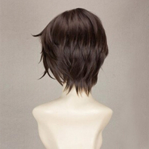 Image 4 - Final Fantasy FF8 Squall Leonhart Short Brown Heat Resistant Hair Cosplay Costume Wig + Free Wig Cap