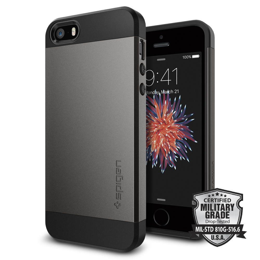 100% Originale SPIGEN Slim Armatura Custodie per il iphone SE/5 s/5