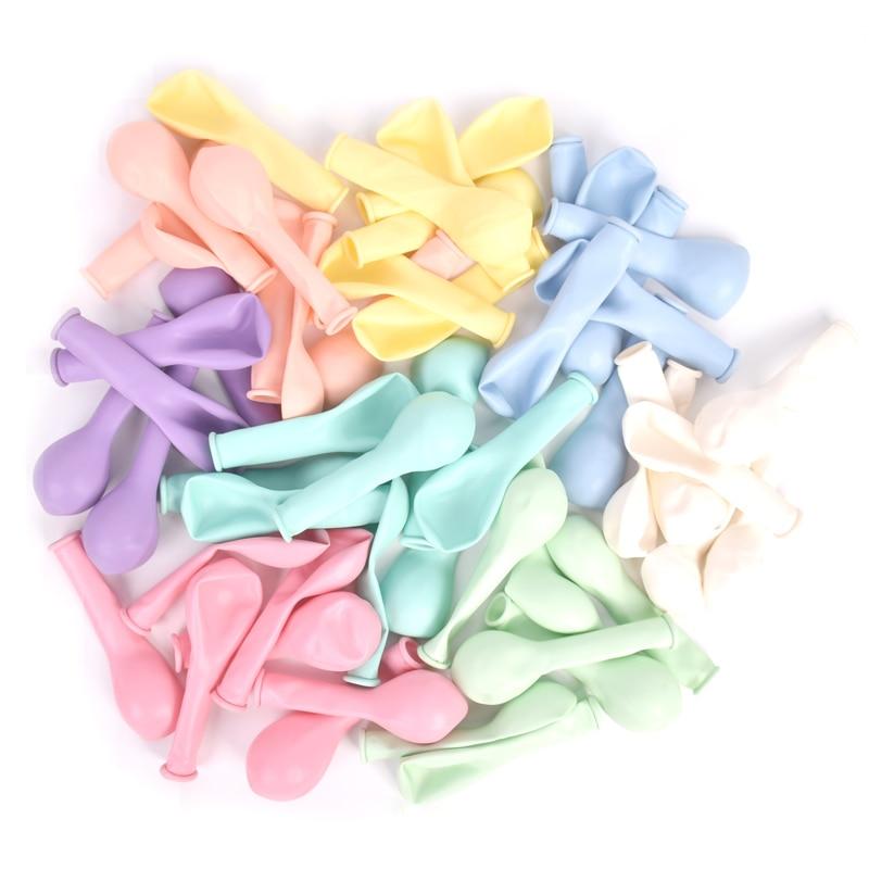 30 pçs 5 Polegada macarons cor pastel doces balões látex redondo hélio baloons para festa de aniversário