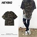 Homens hip hop camisetas oversize tee camo half-manga marca clothing camuflagem camisas 2017 nova primavera tops tático solto tees