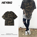 Oversize Camo Tee Half-sleeve Men Hip hop T-shirts Brand clothing camouflage Shirts 2017 new Spring Tops tactical Loose Tees