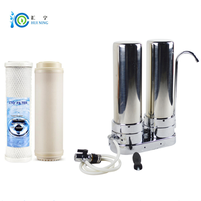 2 Stage 304 Food grade Stainless Steel Water Filter Water Purifier with CTO carbon filter and UF filter for kitchen faucet water filter machine 500l h kitchen water filter water purifier uf stainless water filter