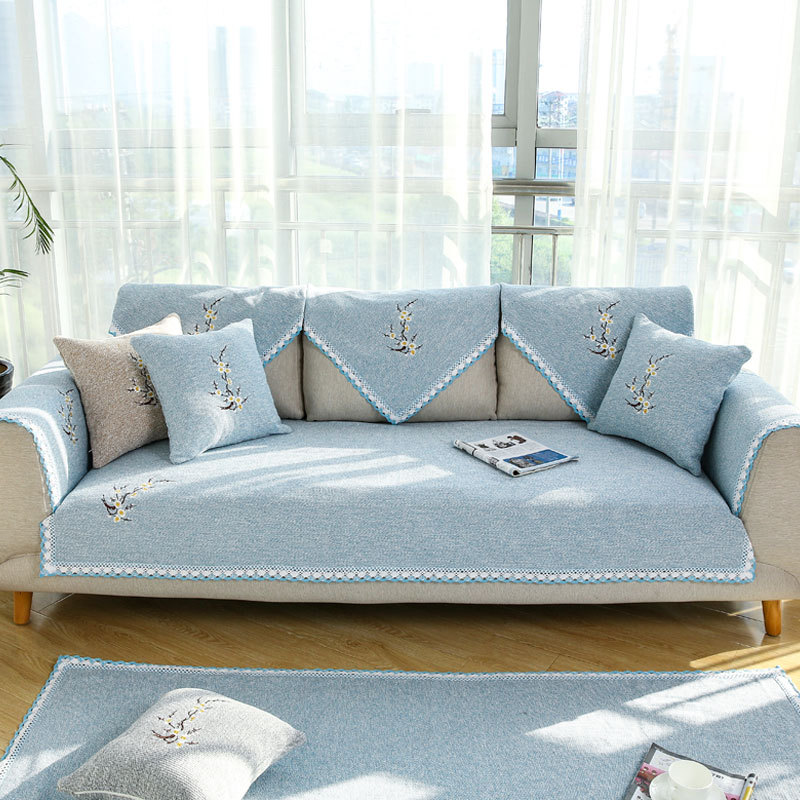 1pc Waterproof Quilted Sofa Covers Embroidered Luxury Sofa Skirt Suitable  For Living Room Sofa Decoration A Variety Of Styles  In Sofa Cover From  Home ...
