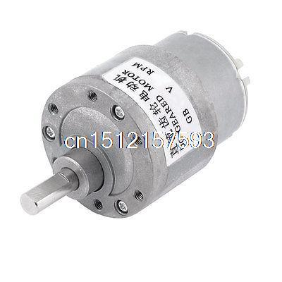 12V 30RPM Synchronous Reduction 6mm Shaft Dia DC Gearbox Geared Motor zga37rh dc 24v 25rpm 6mm shaft dia cylinder permanent magnet geared box motor