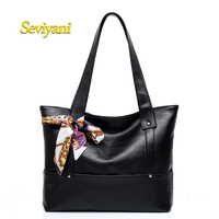 Seviyani New Luxury Women Handbags Lady PU Leather Crossbody Shoulder Messenger Bags Female Boston Bowknot Solid