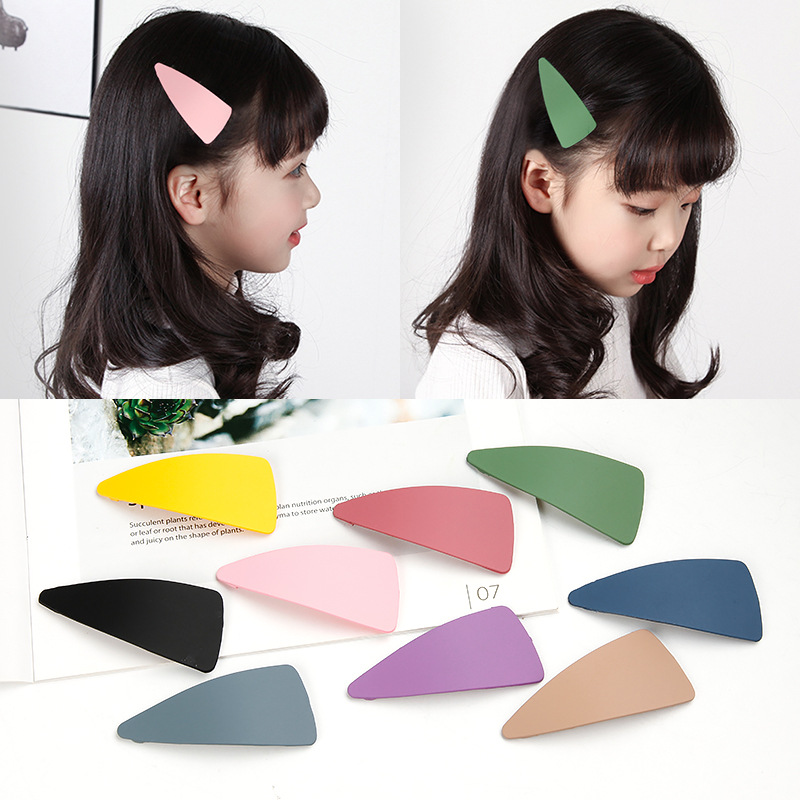 Addy store Candy Color Korean Hair Clip 11 pieces a lot Geometric BB Top Hairpin Girls Hairpins for Women