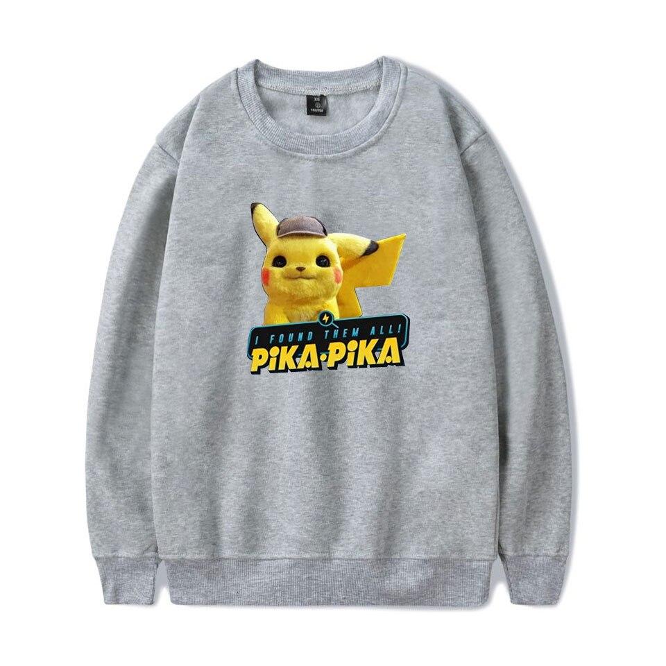 2019 Anime movie Pokemon Detective Pikachu 2D Print O neck Sweatshirt Harajuku Round Collar Unisex Men Women Sweatshirt in Hoodies amp Sweatshirts from Men 39 s Clothing