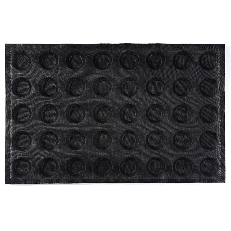 Subway demarle Silform Style Non stick Perforated Baking Mold for 4 Inch Buns 40 Molds silicone