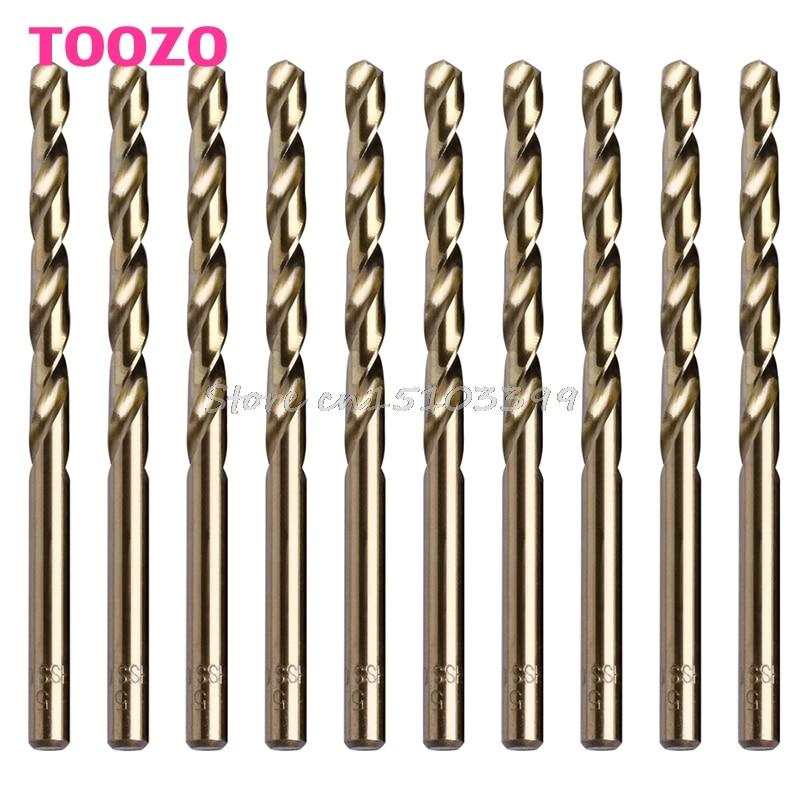 10Pcs 5mm M35 Triangle Shank HSS-Co Cobalt Twist Drill Spiral Drill Bit #G205M# Best Quality free shipping of 1pc hss 6542 made cnc full grinded hss taper shank twist drill bit 11 175mm for steel