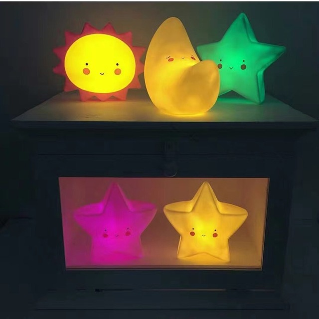 Baby Lovely LED Toys Night Sleep Light Children Stars Moon Sun Kids Bedroom  Lamp Kids Lighting. Baby Lovely LED Toys Night Sleep Light Children Stars Moon Sun