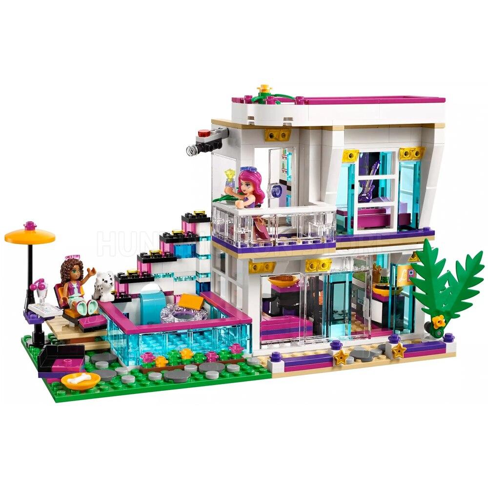 Fit arkadaşlar serisi 41135 Livi erkek POP yıldızı ev tasarımcı seti 644 adet Model oyuncak inşaat blokları kızlar için eğitim DIY hediyeler
