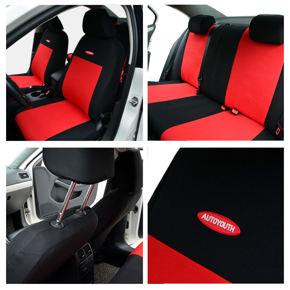 Image 3 - High Quality Car Seat Covers Polyester 3MM Composite Sponge Universal Fit Car Styling for lada Toyota seat cover car accessories-in Automobiles Seat Covers from Automobiles & Motorcycles