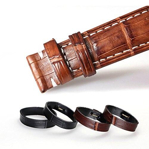 In Gewissenhaft 4 Stücke Echtem Kalbsleder Leder Uhr Strap Schleife Band Halter Ändern Krokodil Korn In Braun Schwarz 18mm 20mm 22mm 24mm Novel Design;