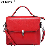 ZENCY Small Flap Women Summer Bag Female Bags Luxury Famous Brands Handbag Genuine Leather Tote Shoulder