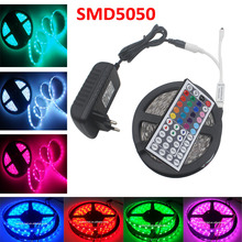 RIRI Won Full Set 5m RGB LED Strip 5050 fiexible light 150Leds,5m/lot,DC12V,RGB LED tape full sets